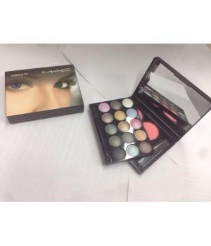 Тени Mac makeup kit + румяна №1