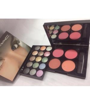 Тени Mac makeup kit + румяна №2