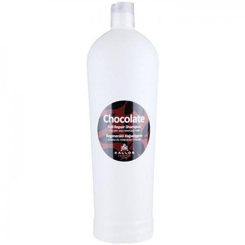 Kallos Шоколад регенерирующий шампунь для сухих и посечённых волос 1000 мл