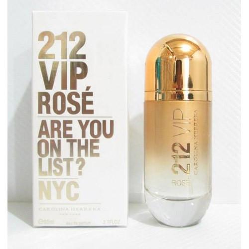 Женская туалетная вода Carolina Herrera 212 VIP Rose Gold (Каролина Херрера 212 вип роуз голд) 80 мл