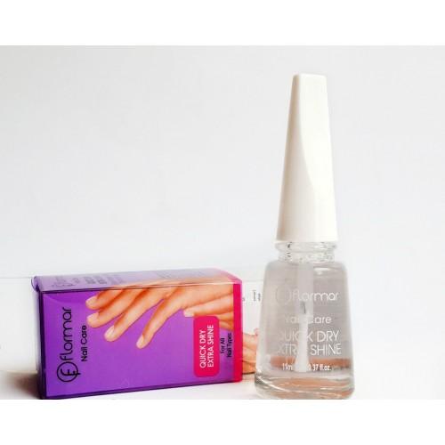 Закрепитель сушка лака для ногтей Flormar Quick Dry Extra Shine