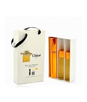 Подарочный парфюмерный набор с феромонами женский Chloe Eau de Parfum (Хлое Парфюм) 3x15 мл