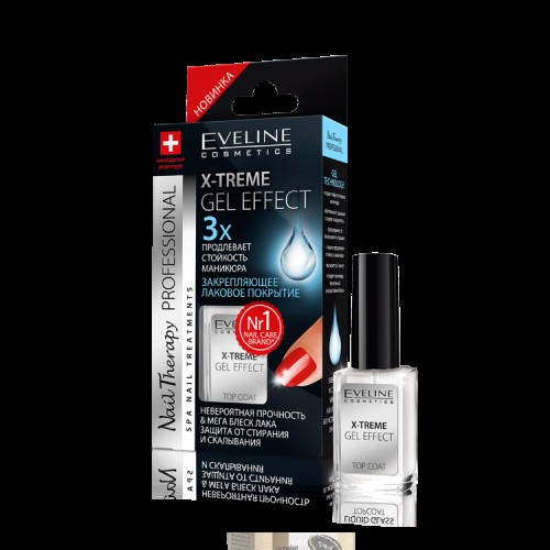 "Eveline Nail Therapy Professional ""X-Tream Gel Effect Top Coat"""