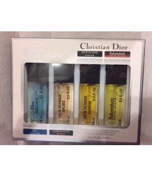ПОДАРОЧНЫЕ НАБОРЫ с ФЕРОМОНАМИ ( 4 шт по 15 мл ) Christian Dior Мужские