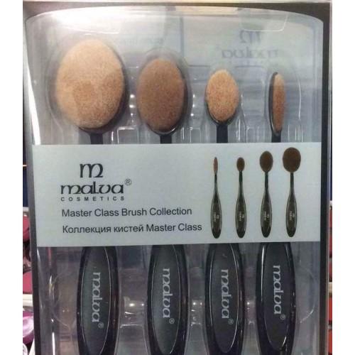 Коллекция кистей для макияжа Malva 4 шт