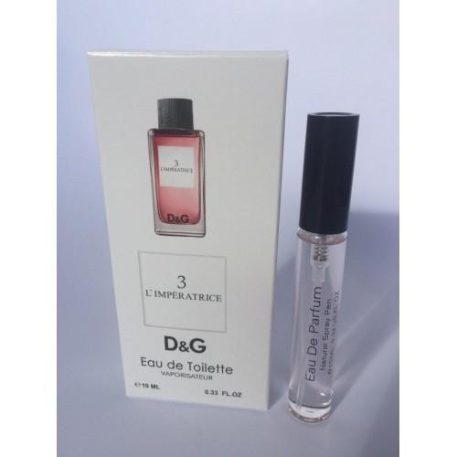Женский мини парфюм с феромонами Dolce&Gabbana L`Imperatrice 3 (Дольче Габбана Императрица 3) 10 мл