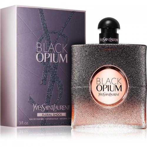 Женская парфюмированая  вода Black Opium Floral Shock (Блэк опиум флёрал шок) 90мл