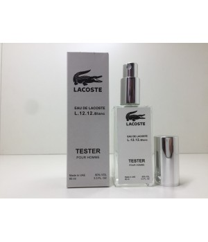 Тестер мужской Lacoste L.12.12 Blanc (Лакоста Бланк) 60 мл