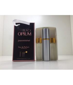 Подарочный набор духов Jeanmishel Black Opium (Жанмишель Блэк Опиум) 3 по 15 мл