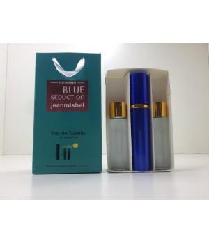 Подарочный набор духов Jeanmishel Blue Seduction (Жанмишель Блю Седакшн) 3 по 15 мл