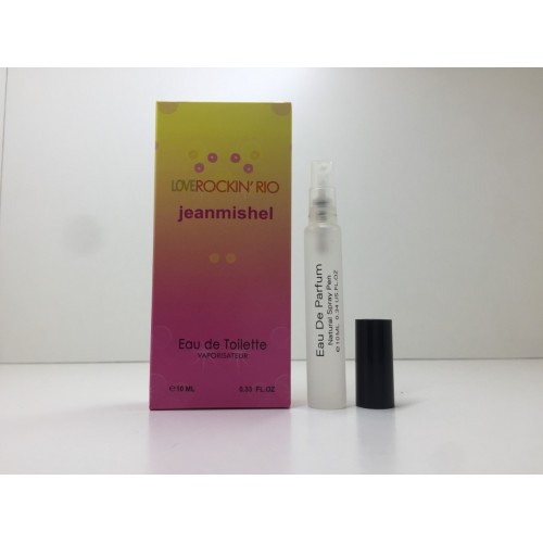 Мини парфюм женский Jeanmishel Rockin Rio (Жанмишель Рокен Рио) 10 мл