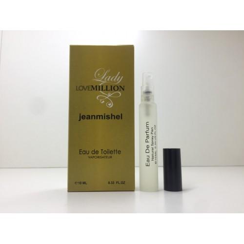 Мини парфюм женский Jeanmishel Lady Million (Жанмишель Леди Миллион) 10 мл