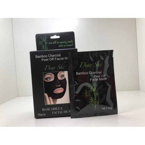 Маска очищающая Dear She Bamdoo Charcoal Peel off Facial Mask (Бамбуковая маска-пленка) 20 гр