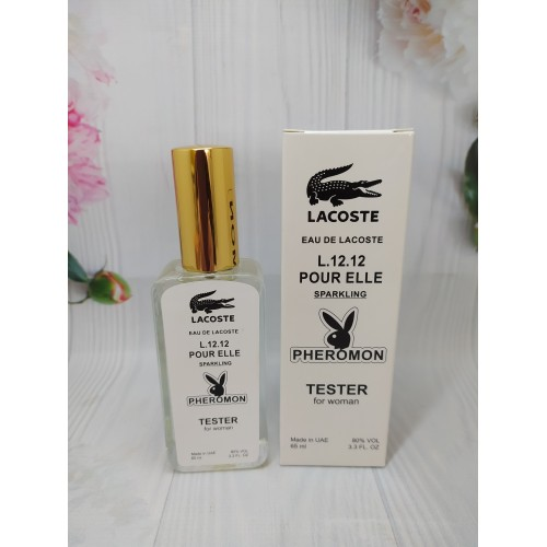 Женский тестер Lacoste Eau De L.12.12 Pour Elle Sparkling ( Лакоста Спарклинг) с феромонами 65 мл